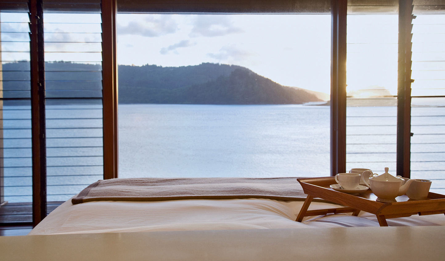 Breakfast in bed at Qualia is an offer you cannot refuse