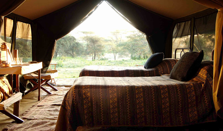 Your tented room
