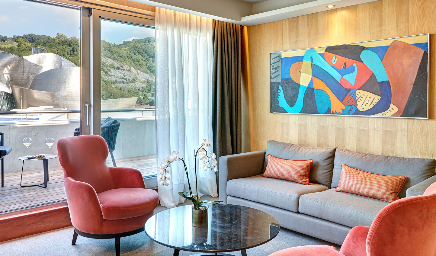 Colourful artwork to suit a colourful city in the Premier Suite