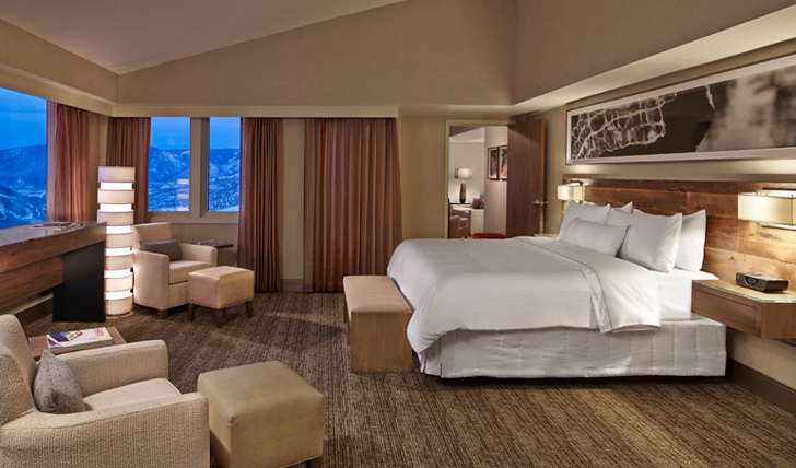 A bedroom at the Westin Snowmass, USA
