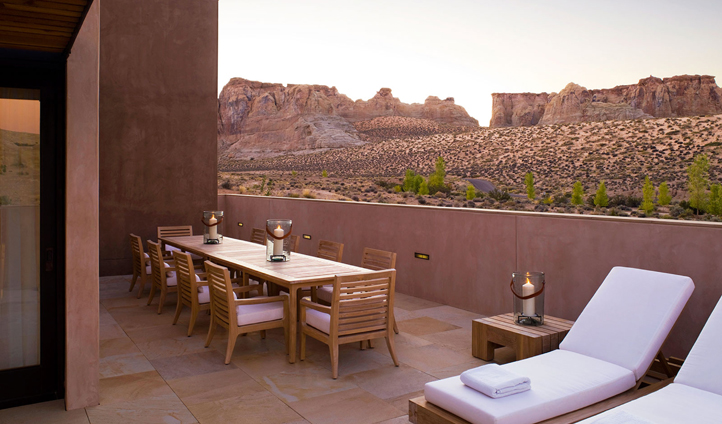 Private dining at the Mesa Home
