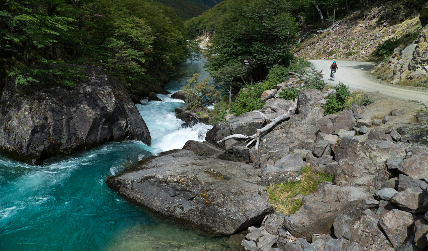 Mountain bike through this remote wilderness