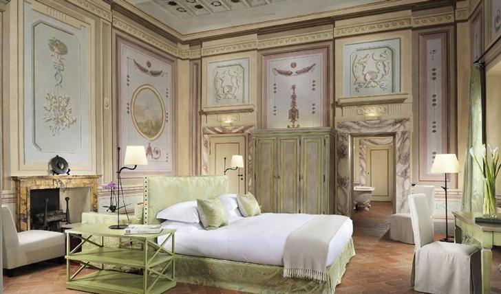 Castello del Nero's Pastel Suite, Tuscany