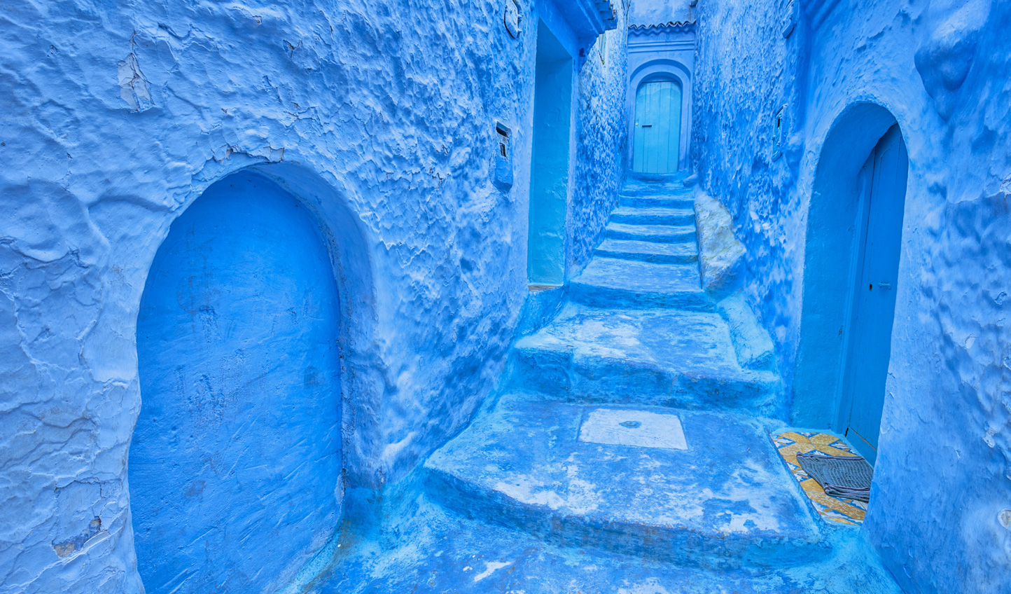 Stroll through the blue-hued streets