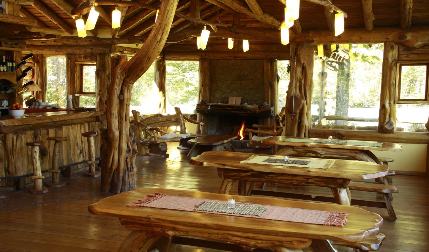 Rustic dining at Laguna Condor