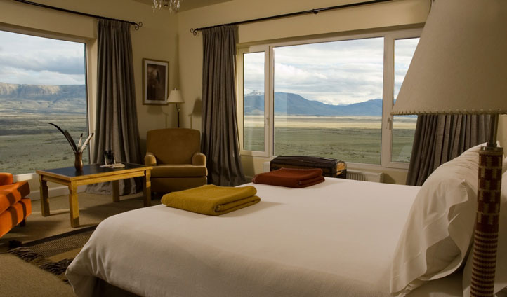 Luxury hotel rooms at Eolo Lodge