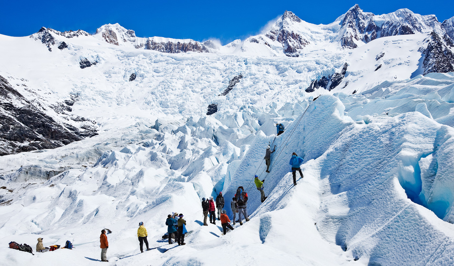 A place to challenge yourself, hike glaciers in Patagonia