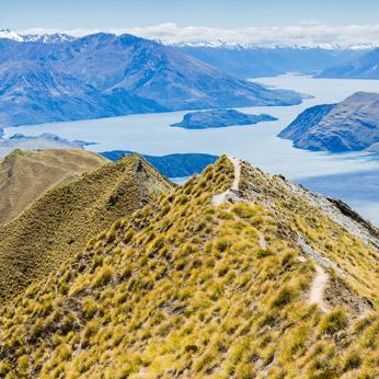 Views over Lake Wanaka, New Zealand