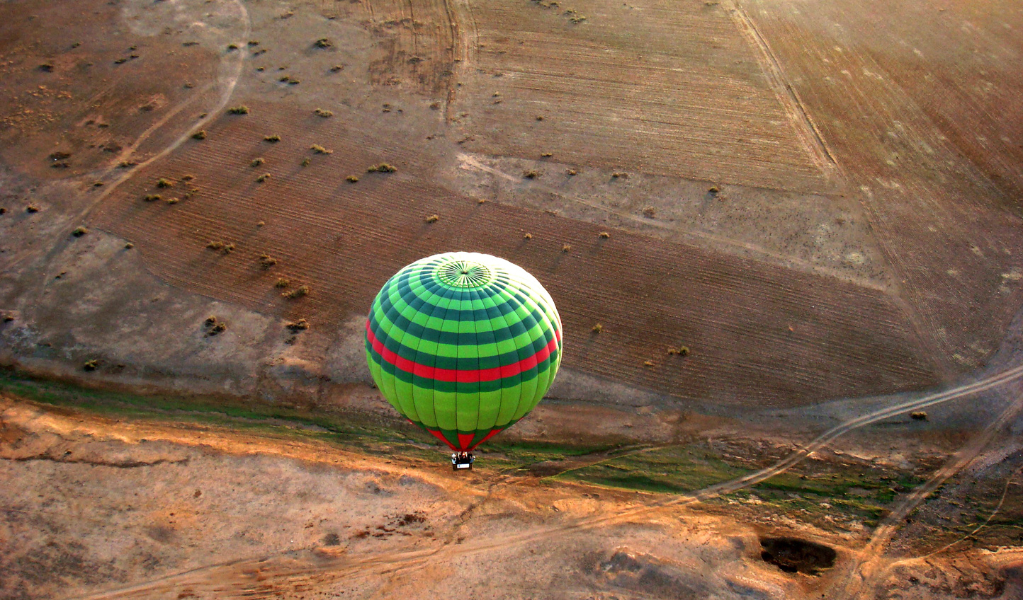 Float above the Moroccan landscapes