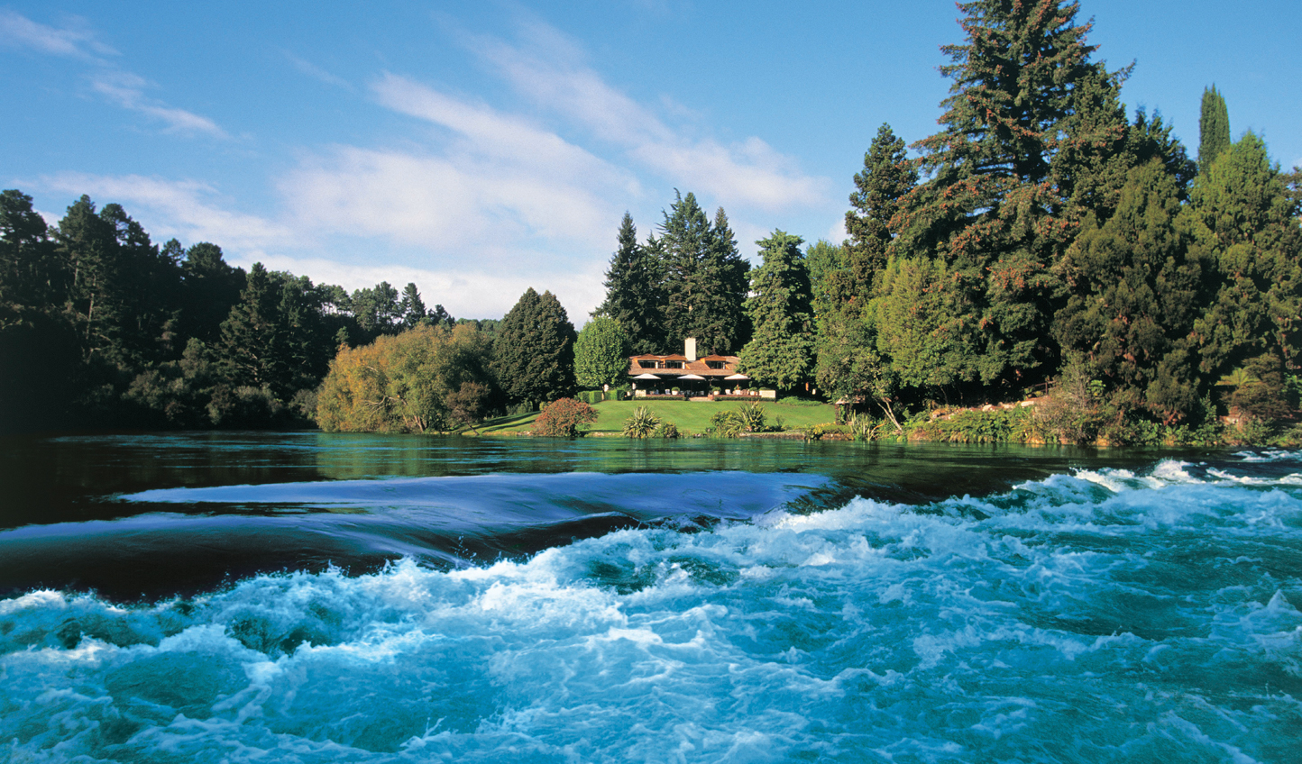 Drift down the falls to Huka Lodge
