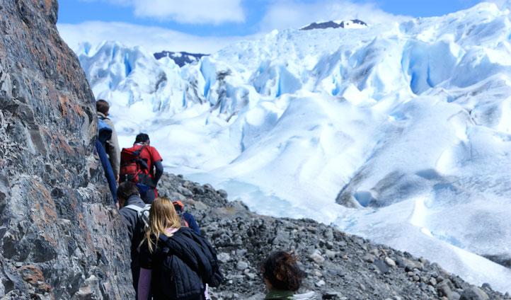 Icy peak glacier, el calafate
