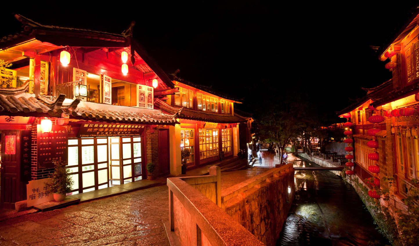 Lijiang-Old-Town-at-Night