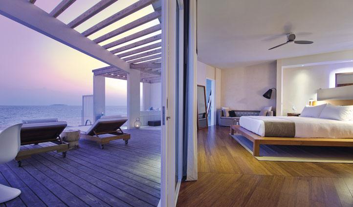 Ocean House Bed Amilla fushi, the maldives