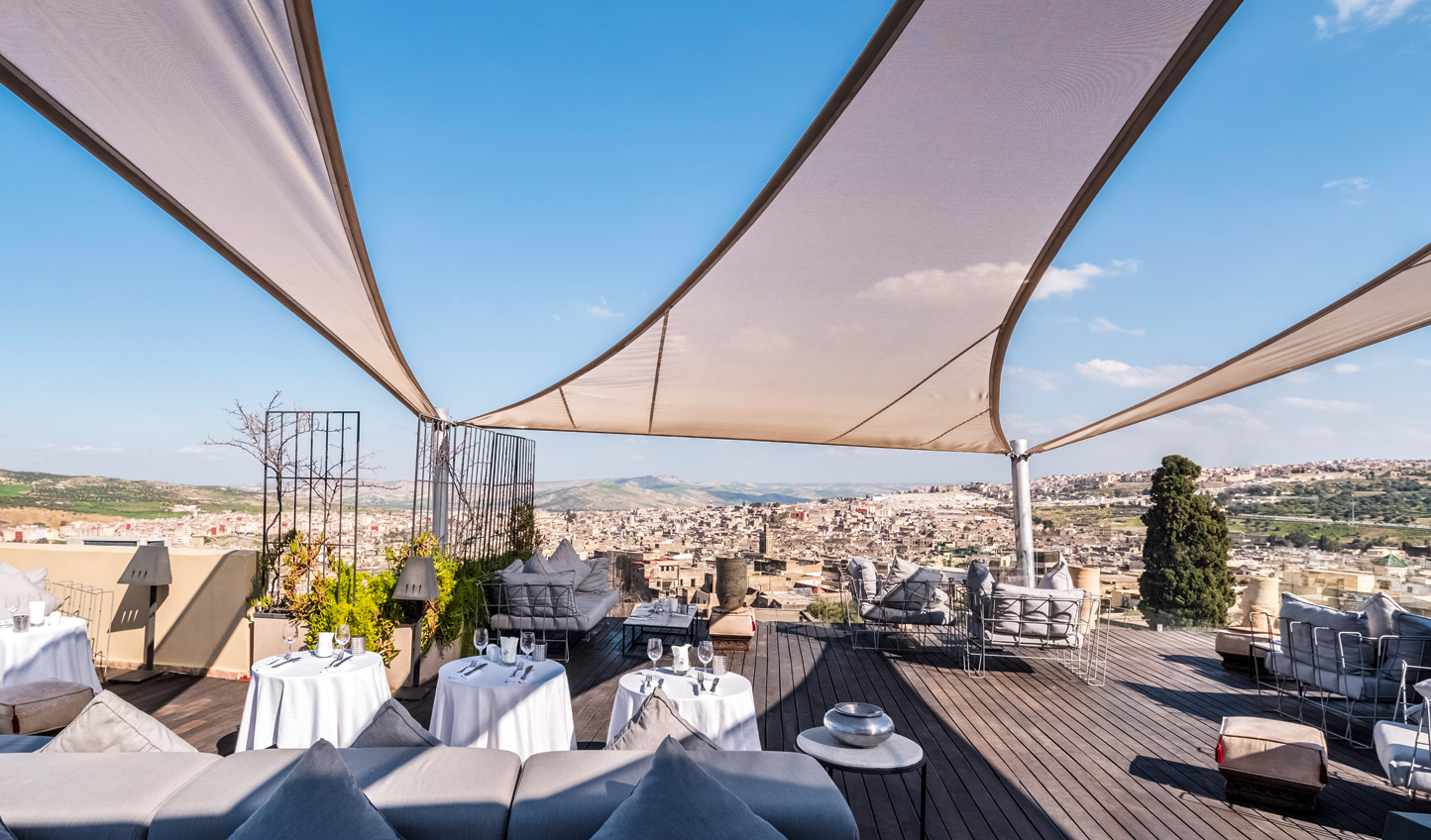 Enjoy endless views over the city from Riad Fes