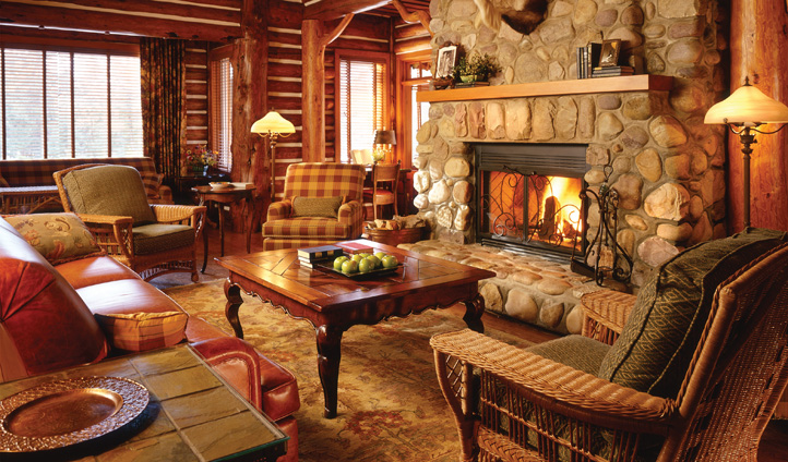 Cosy interiors, Fairmont Jasper Park Lodge