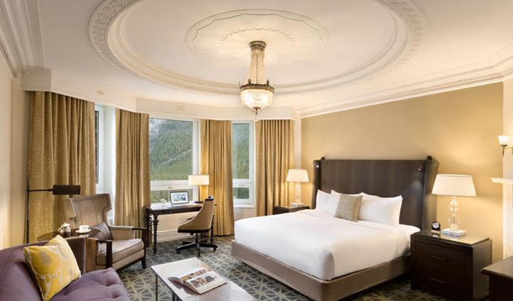 Classic and elegant, the rooms at Fairmont Banff Springs ooze luxury