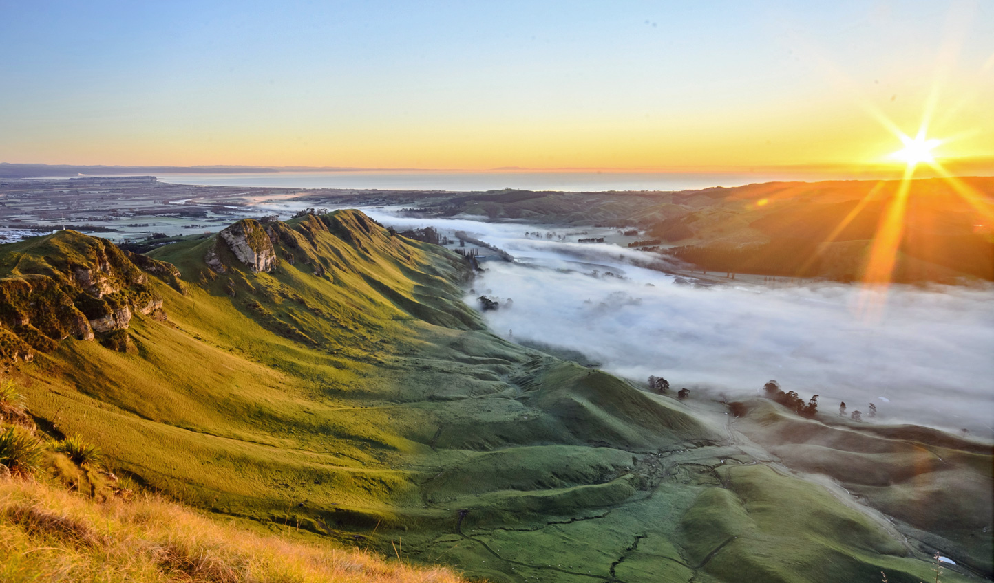 Watch the sunrise over Hawke's Bay