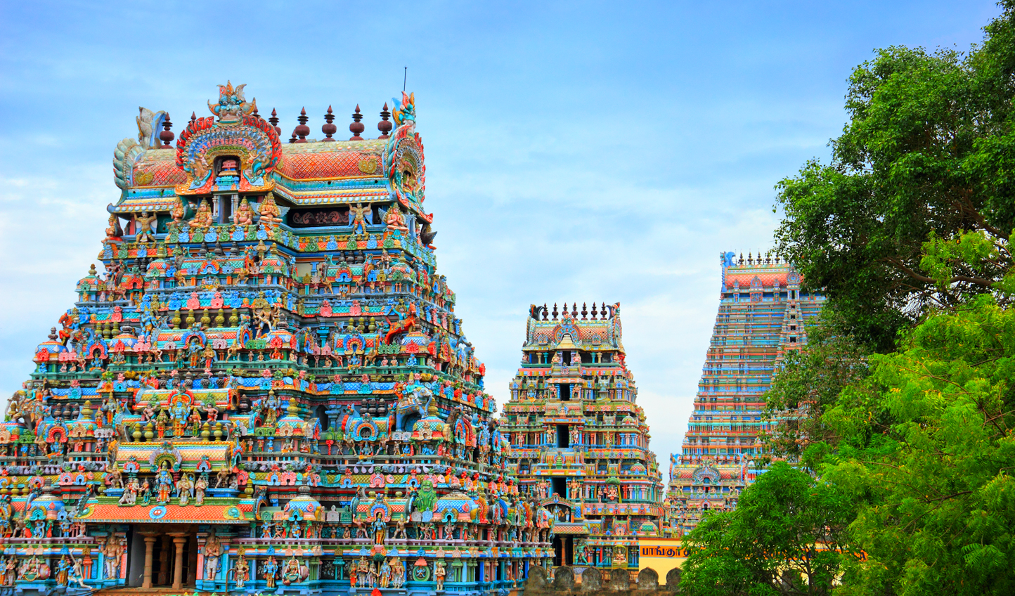 The colourful Kapaleeshwar Temple in Chennai