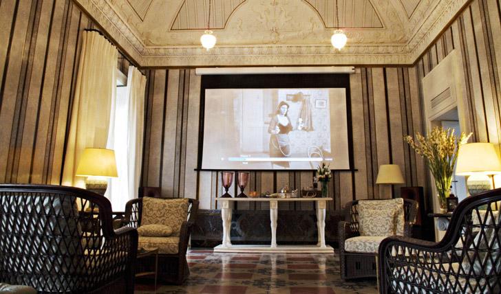 The salon Palazzo Margherita