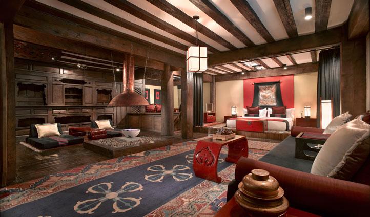 Living Room at Banyan Tree Ringha, China