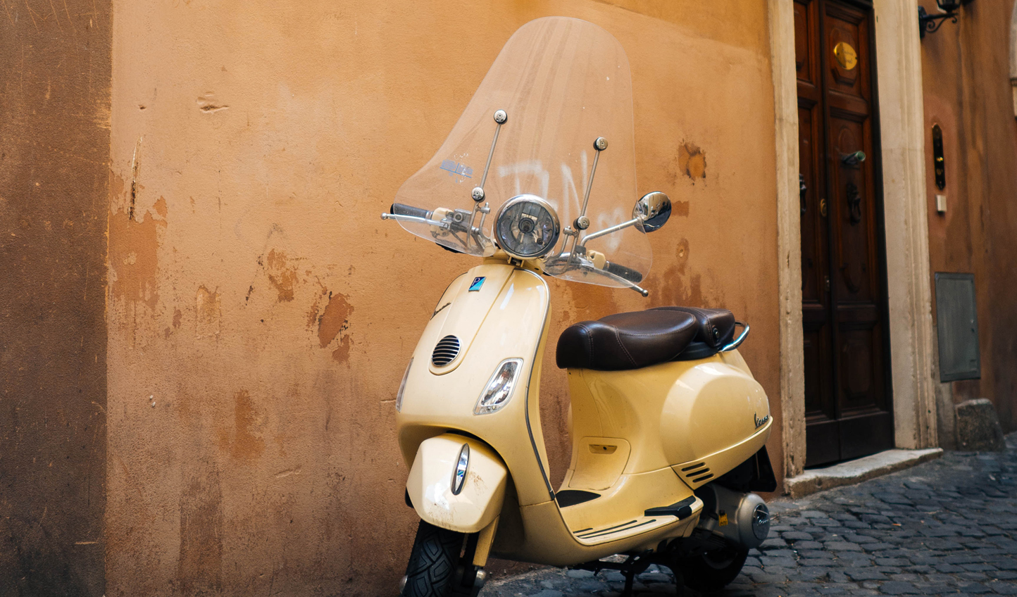Whizz through the streets on a vintage Vespa