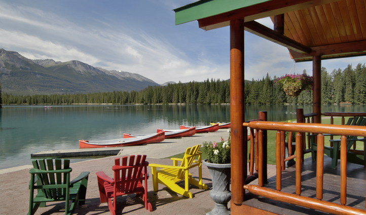 A position by the lake, Fairmont Jasper Park Lodge