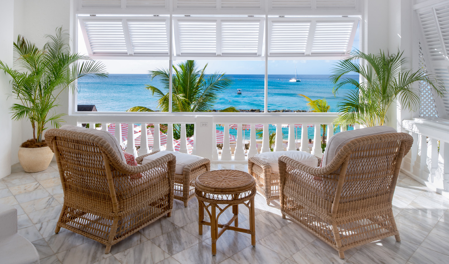 Wake up to views of azure seas