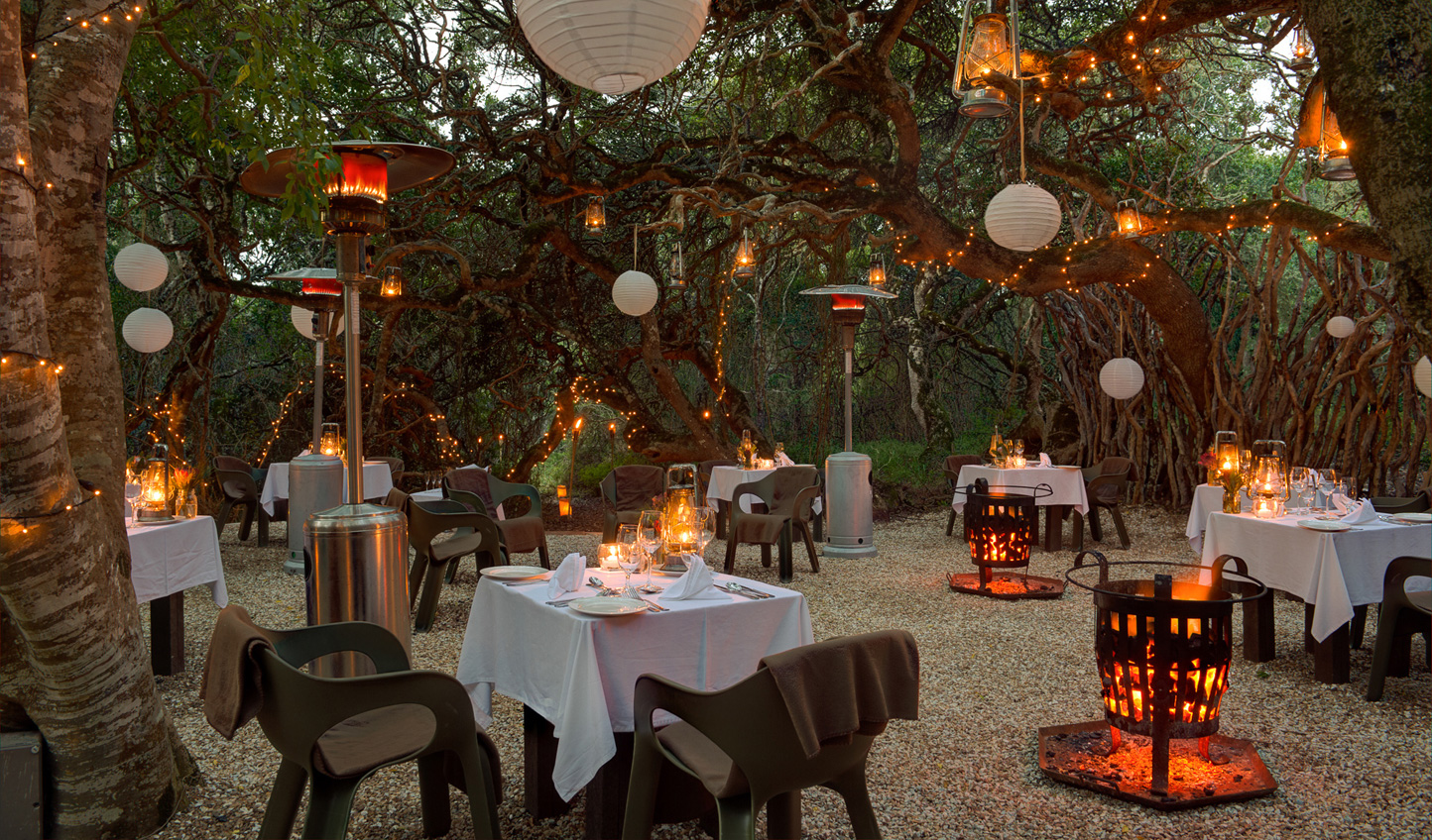 Dine beside the boma