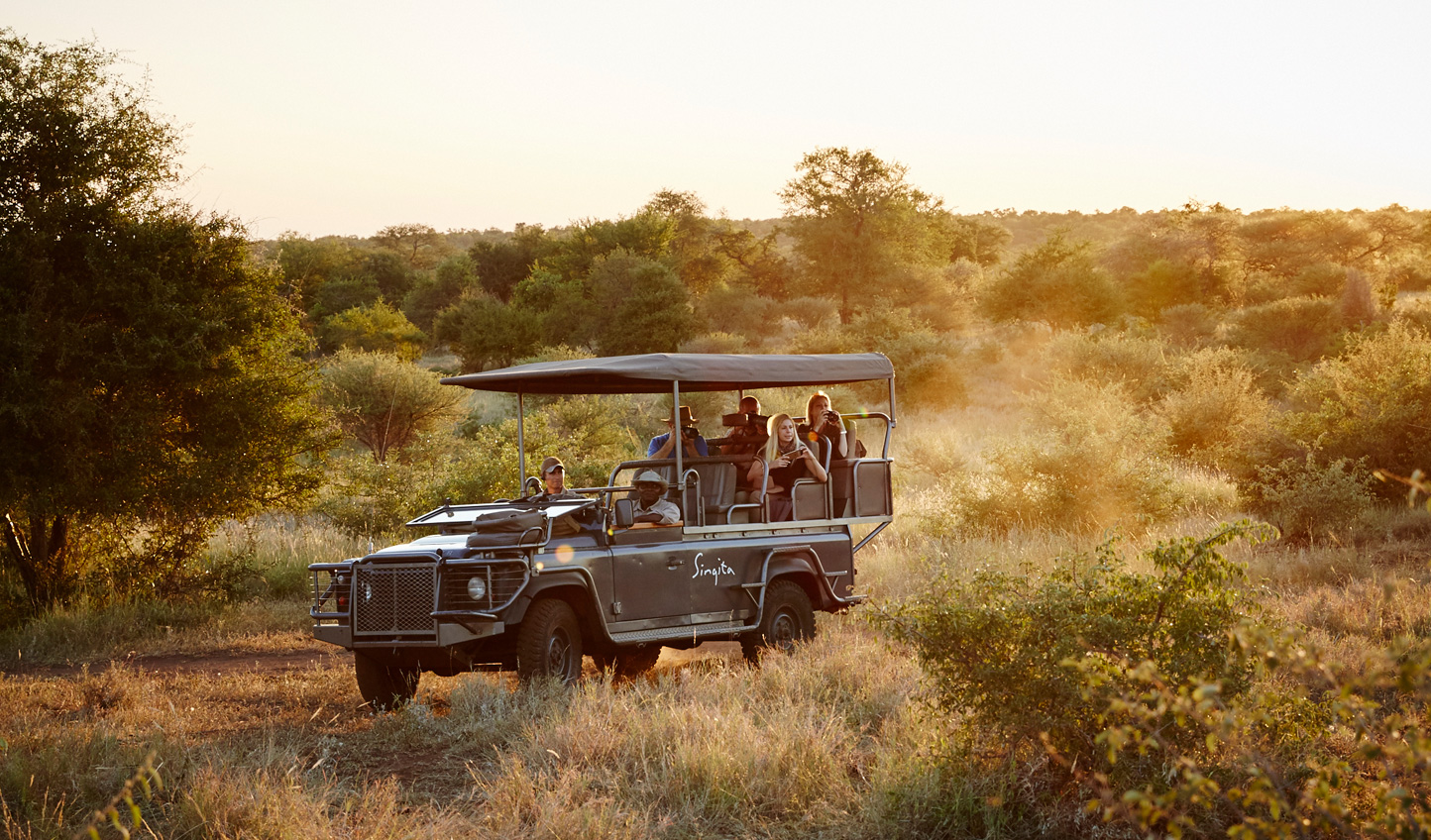 Set off on a game drive through the plains - with noone else in sight