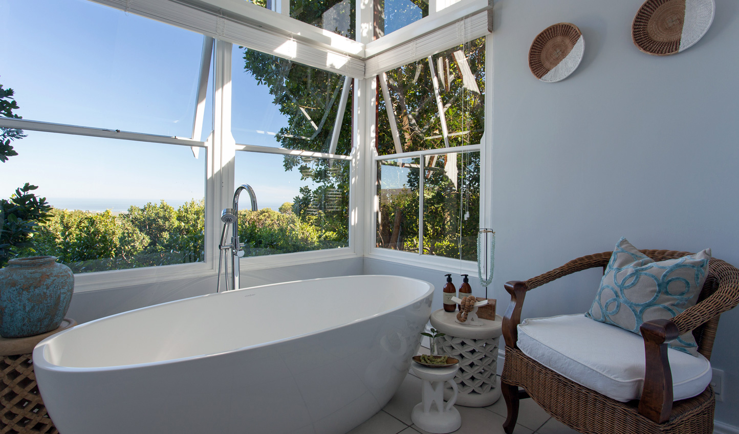 Sink into the tub and admire the views that stretch out before you