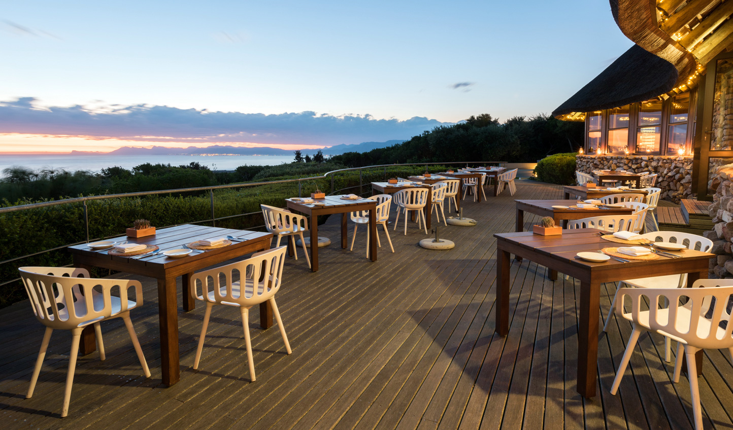 Dine with a panoramic view of the coastline