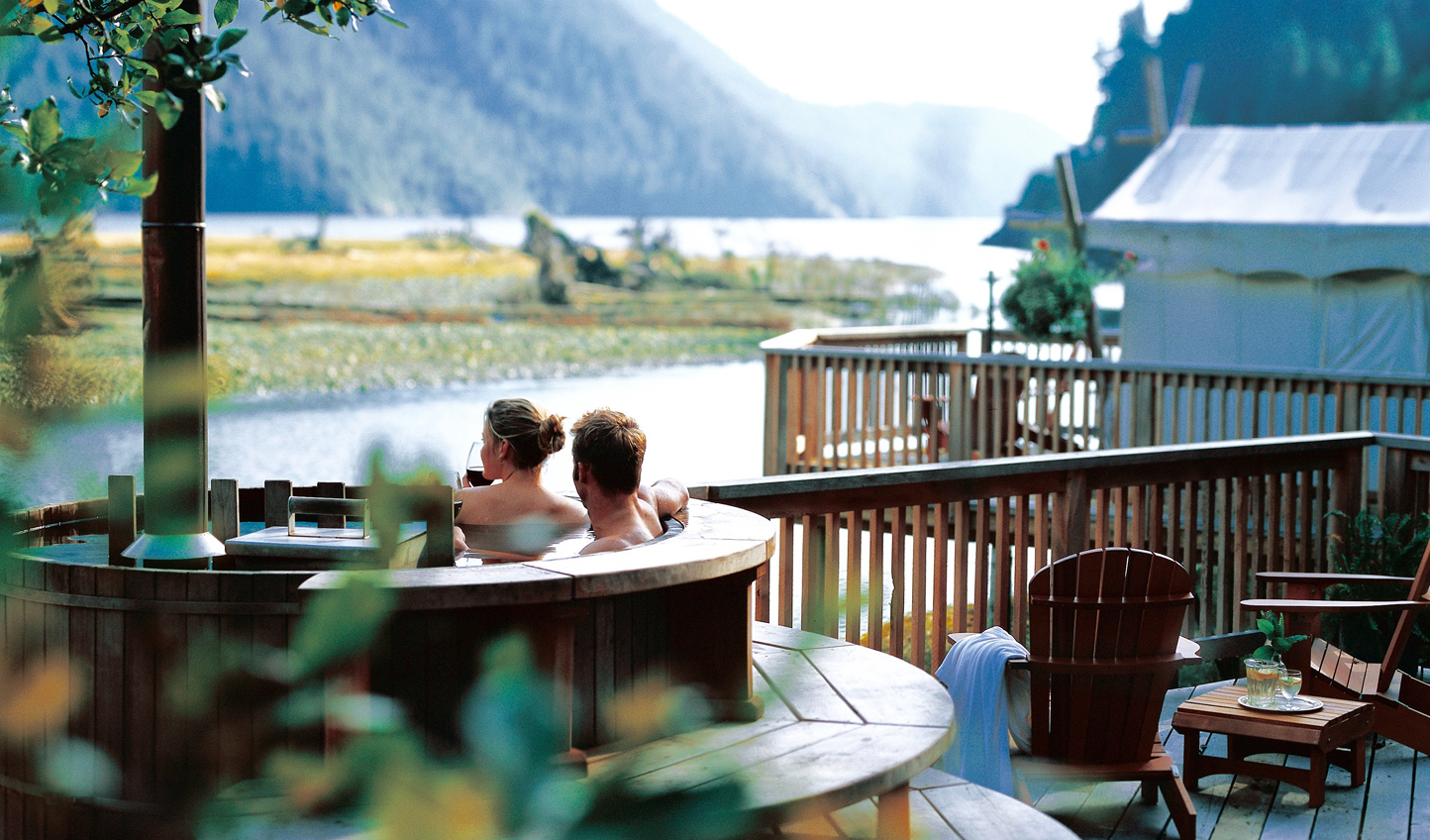 Soak away all your stresses in the wood-fired hot tub whilst gazing over the idyllic views