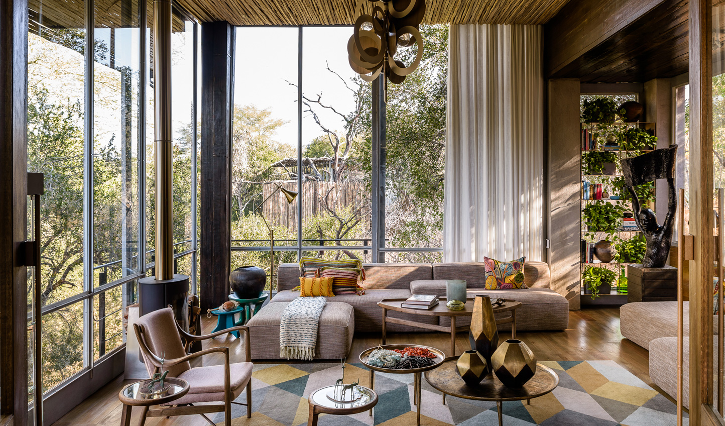 Contemporary design cut through with African hues