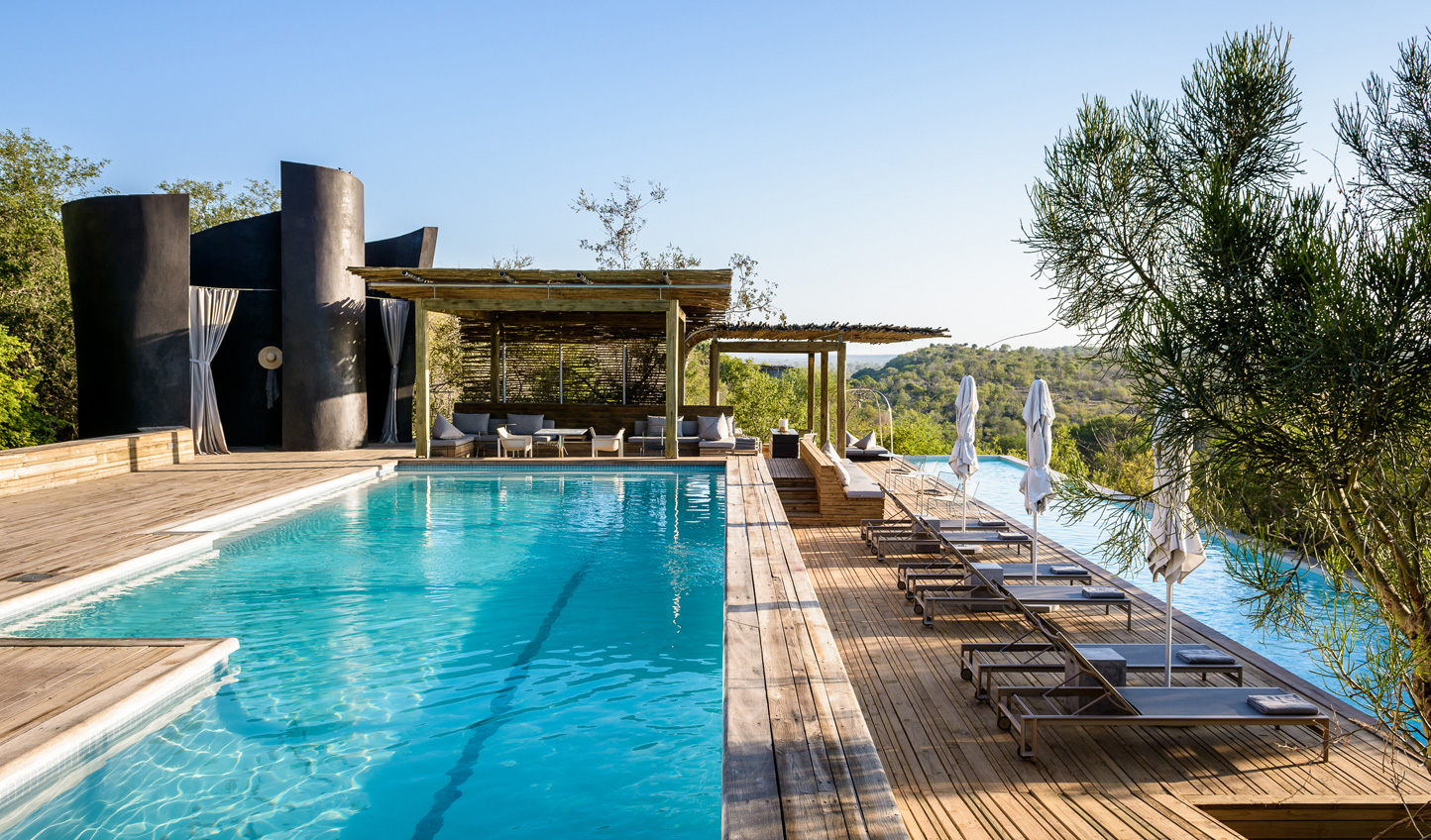 Spend an afternoon or two soaking in the African sun by Singita Lebombo's beautiful pools