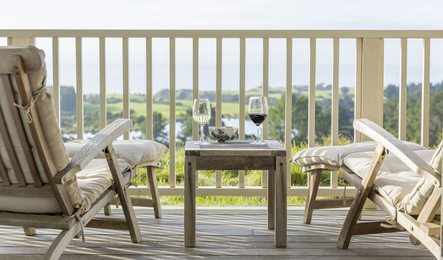 Wind down with a glass of wine at The Farm at Cape Kidnappers