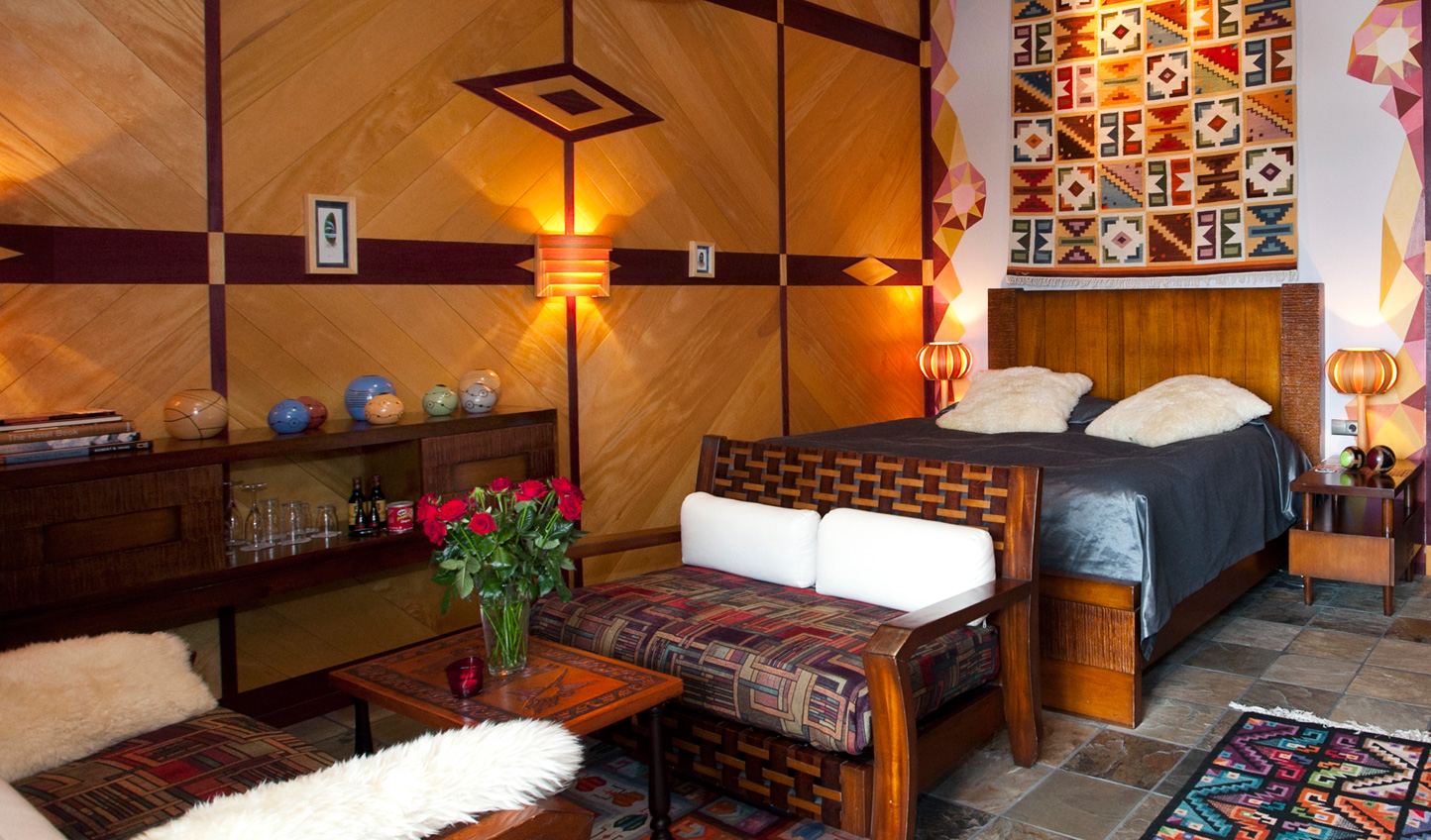 Each suite has been individually decorated to reflect a different continent