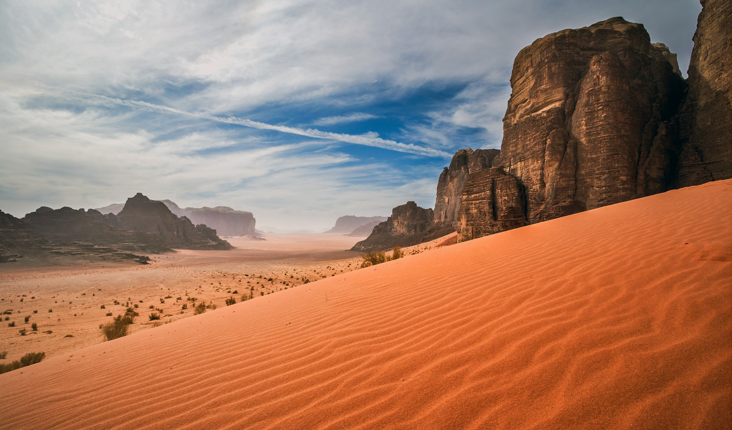 Explore the sand swathed valleys of Wadi Rum