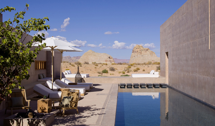 Your private lap pool in the Amangiri Suite