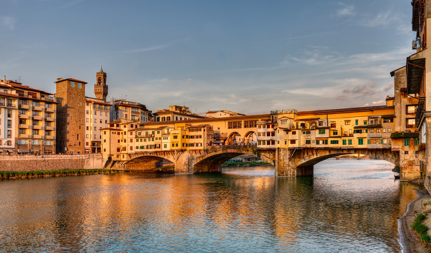 Watch the sunset over the iconic Ponte Vecchio