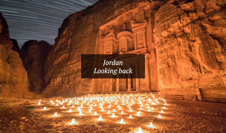 The beauty of Petra by candlelight, Jordan