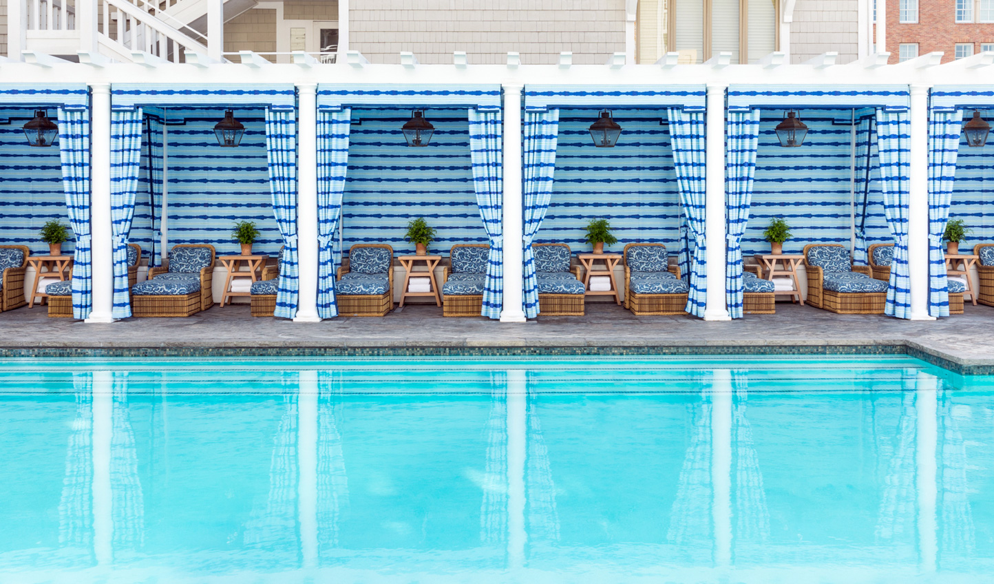 Pick your cabana and settle in for a day of poolside serenity
