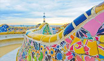Gaudi's colourful architecture
