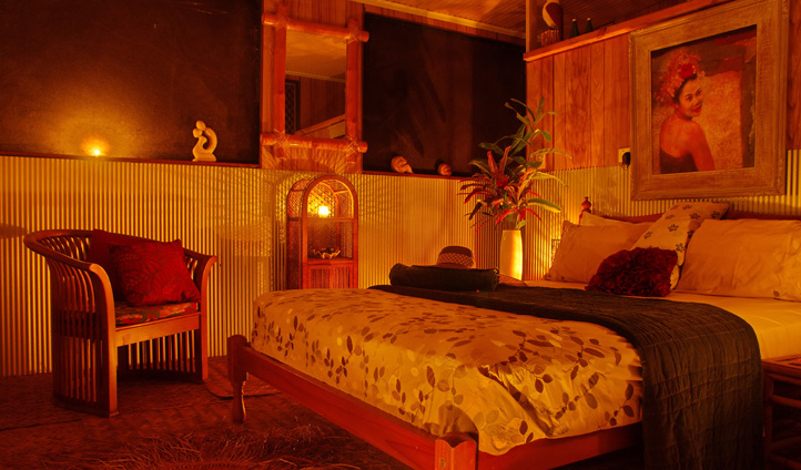 A bedroom at Banu Banu, Australia