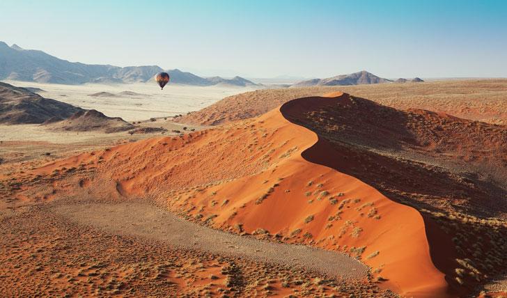 Balloon safari, Kulala Desert Lodge, Namibia