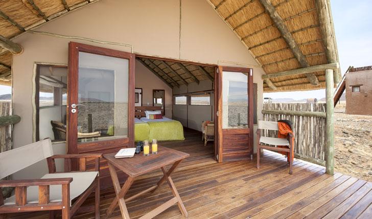 Guest tent, Kulala Desert Lodge, Namibia