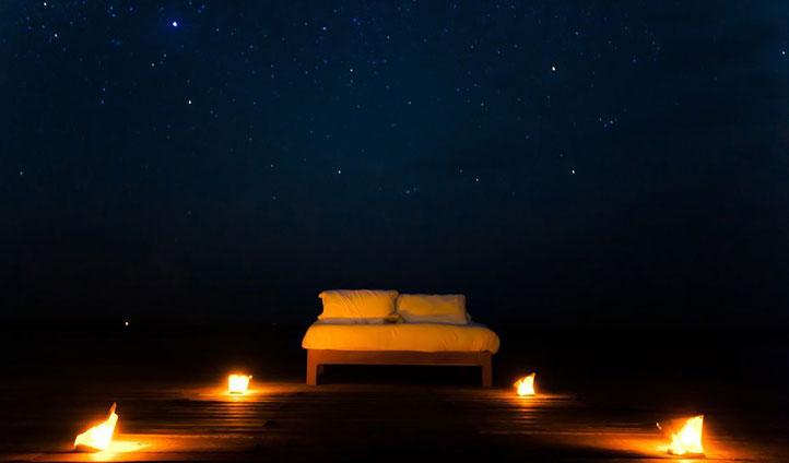 Star bed, Casa Espanto, Belize