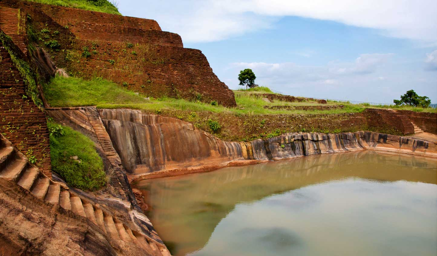 Enjoy the views from the top of Sigiriya