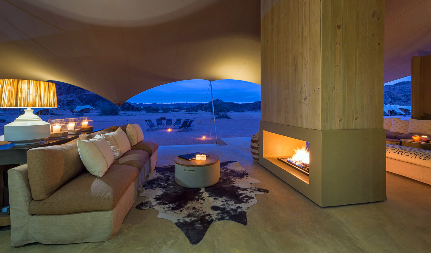 Cosy up by the crackle of the fire at night