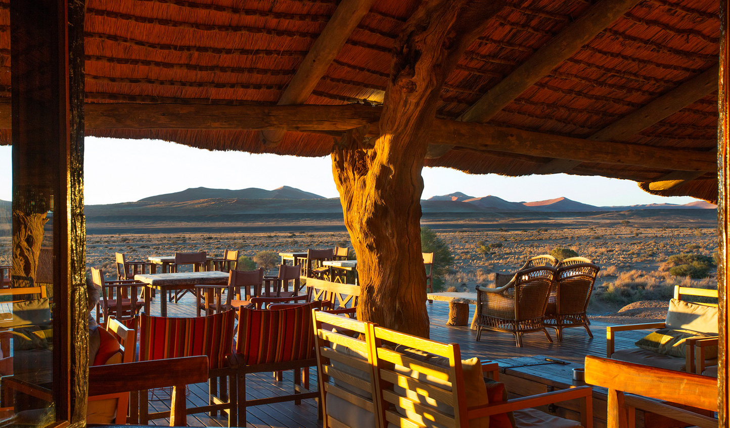 Watch the world go by from Kulala Desert Lodge