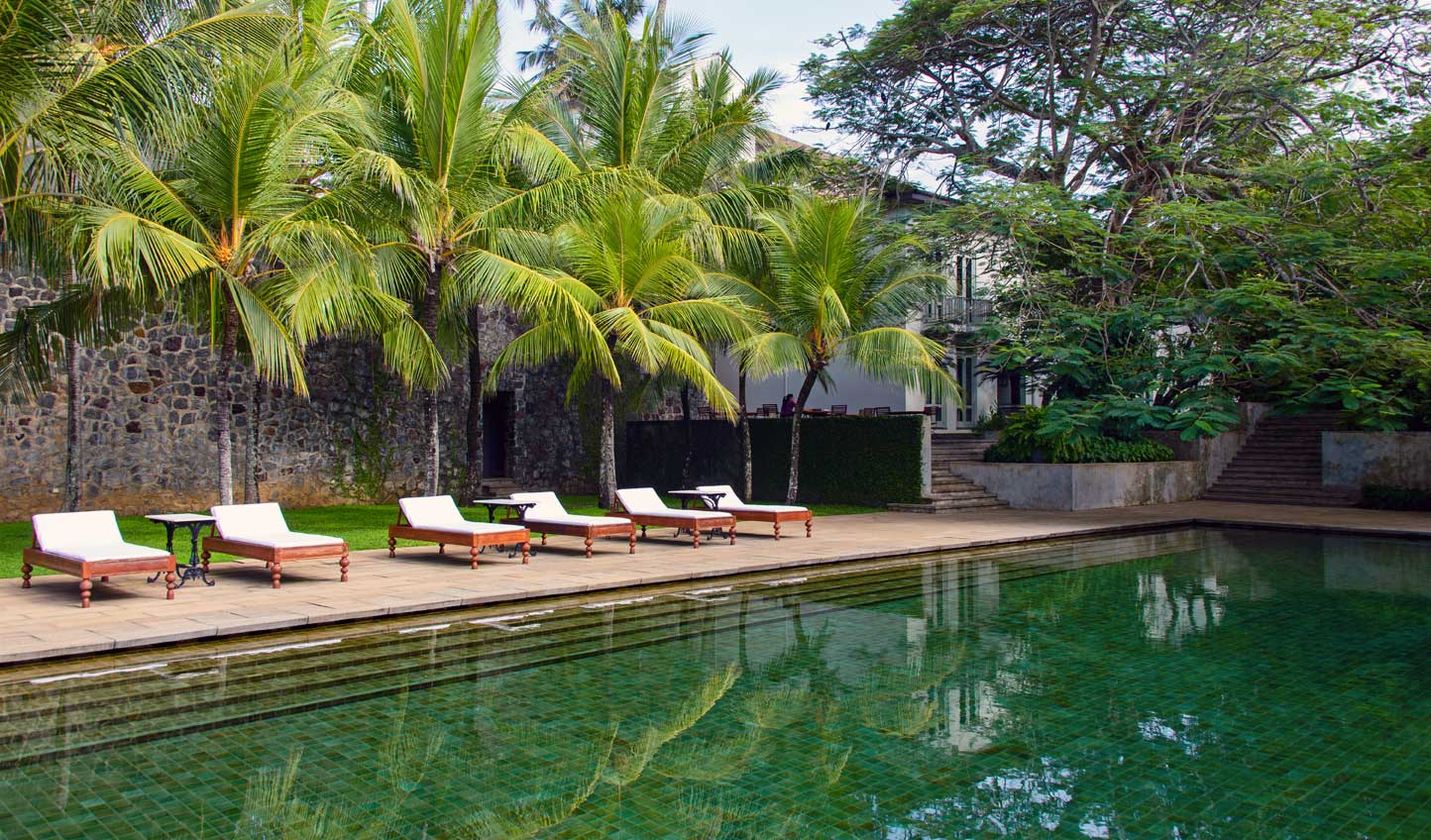 Relax by the pool at Amangalla